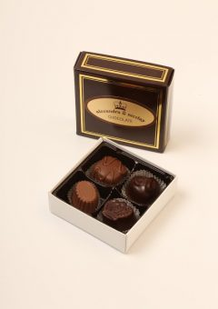 four chocolate assorted