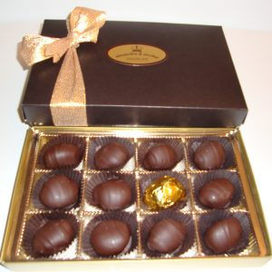 box of chocolate fruits
